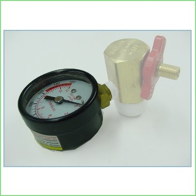 Manifold Relief Valve and Air Gauge for Seven Gallon Air Tank - Click Image to Close
